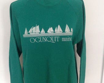 Vintage Ogunquit Maine Sailboat Sweatshirt