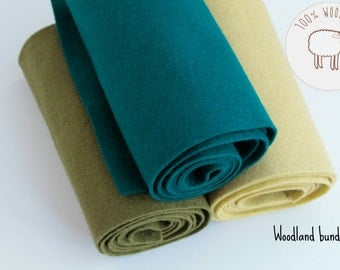 Pure wool felt bundle-shades of green felt bundle-shades of green wool felt rolls, choose the size of the sheets/rolls , Ships from Ireland