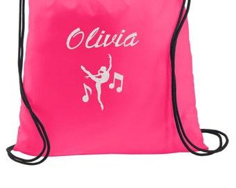 Dance Bag, Dance Drawstring Backpack, Drawstring Bags, Cinch Bags, Personalized Gym Bags, Personalized Dance Bags, Personalized Gifts