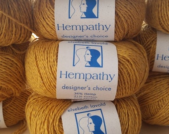 Elspeth Lavold HEMPATHY YARN in Acid Yellow, Sunny Yellow, Pale Blue and Maroon