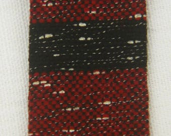 Square-end ~TAVIA~ Vtg 50s Red & Black Thin Wool Knit Necktie Cravat