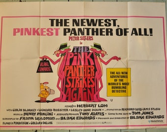 "The Pink Panther Strikes Again - Original British Quad film poster - 30""x 40"""