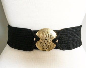Vintage BLACK & GOLD CINCH Belt/size Small-Medium