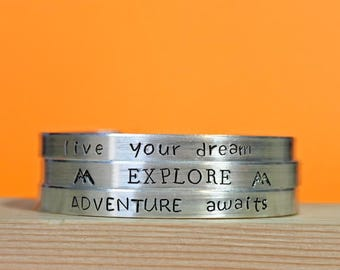 Explore Bracelet, Live Your dream, Adventure Awaits, Explore The Mountains, Travel Jewelry, Get Outdoors, Hiking, Mountains Are Calling