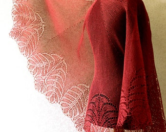 Handknitted lace linen shawl - made to order in any colour