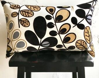 Mid Century Pod Pillow Covers, Neutral Floral Pods, Lumbar Decorative Pillow, 16 x 26 RetroModern Decor, Vintage Decor, Colorful Home