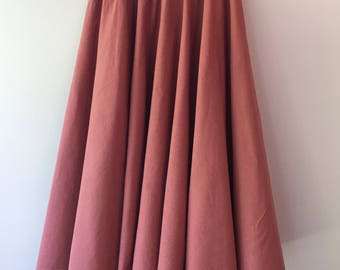 Summer Skirt - Circle Skirt - Dusty Rose - Size S