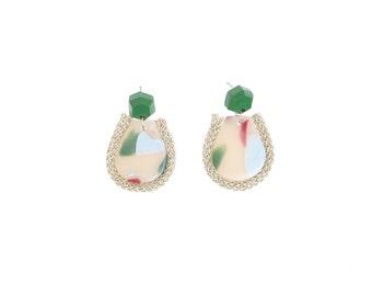 Fiesta Drop Earrings in Emerald Array