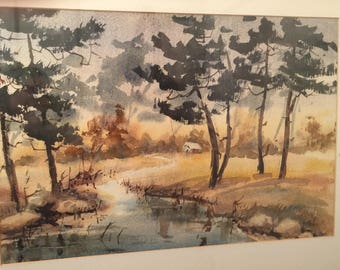Gladys Fies Beautiful Asian Inspired Northern California Landscape by Well Listed Artist