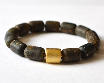 Dark Baltic Amber bracelet, Natural Amber Jewelry, Pure Amber Bracelet, Natural Bracelet, Dark Bracelet