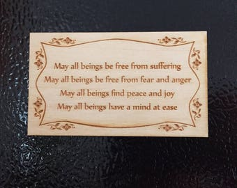 Wooden Compassion Prayer Magnet