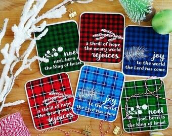 Christmas carol themed / set of 6 journaling / bible journaling cards