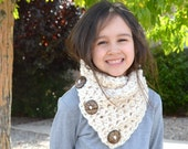 Chunky Kids Knit Buttoned Neck Warmer Cowl Scarf | The Little North Bay