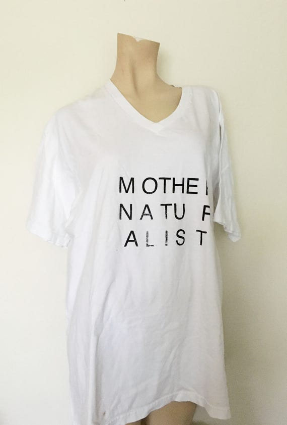 mother naturalist tshirt stafford xl cotton tee with small stain at bottom