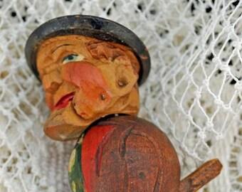 Anri Antique Mechanical, Hand Carved, Bottle Stopper