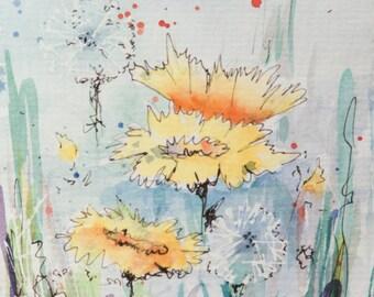 Watercolor Wildflowers 5 ORIGINAL