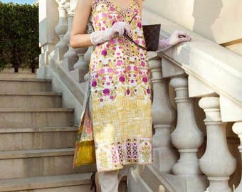 Farah Talib Aziz, Lakhany Lawn 2017, shalwar kameez, women clothing, colorful kameez, pakistani/indian/bengali clothes, ethnic clothes