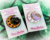 Moonlight Kitty Crescent Moon Kitty Cat Pastel Enamel Pin