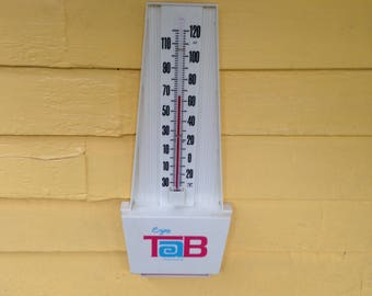 Vintage 1970s Tab Diet Cola Soda Advertising Thermometer