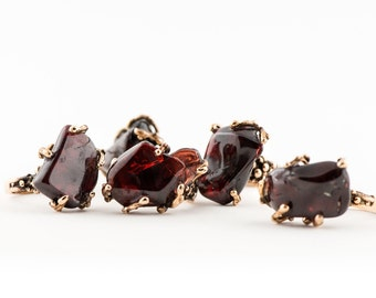 Garnet Stone Ring - One of a kind