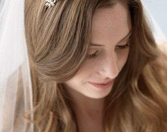 Pearl Gold Bridal Headband, Nature Inspired Headband, Vintage Headband, Bridal Headband, Bridal Headpiece, Gold Wedding Headband ~TI-215-G
