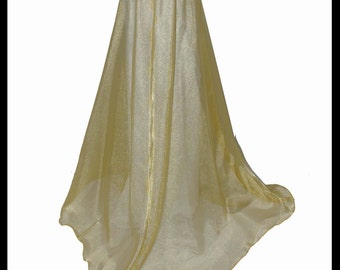 Beautiful Gold Shimmer Organza Cloak. Ideal for a Summer Wedding, Handfasting or Medieval Event. Brand New. Made Especially For You.
