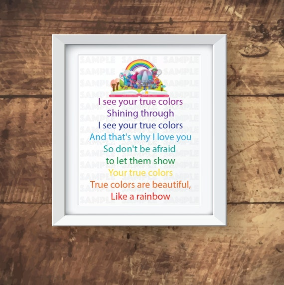 Trolls True Colors Wall Art