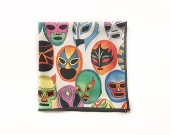 Lucha Libre Pocket Square