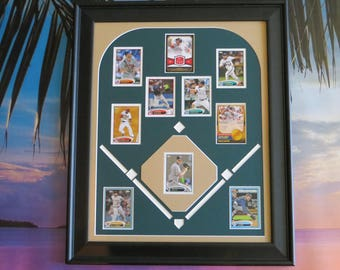 Unique fathers day gift, baseball lover, gifts for dad, gifts for sports lovers,father's day gift for dad, gifts, trading cards display, dad