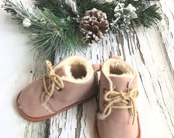 Baby Toddler Winter Boots Baby Booties Crib shoes Baby Moccasin Boots UGG style boots winter baby shoes warm baby boots Fur toddler boots