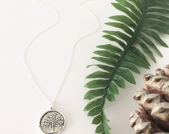 Tree of Life necklace, silver tree necklace, tree necklace, nature jewelry, vintage necklace, plant necklace,vintage jewelry,outdoor jewelry
