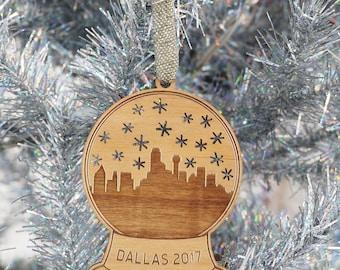 Dallas Snow Globe Ornament