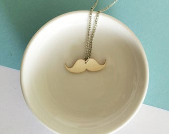 Wood mustache necklace // Movember jewelry // Eco friendly jewelry // Vegan gift // Laser cut wood necklace // Moustache jewelry