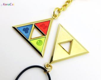 Legend of Zelda: Triforce Necklace Keychain (Din, Farore, Nayru)