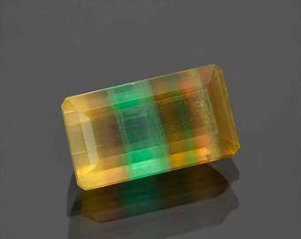 Beautiful Banded Fluorite Gemstone from Argentina 37.00 cts.