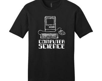 Programmer Shirt Computer Science Shirt Computer Cool Men's T-Shirt Funny Mens TShirt Unique Men's Shirt Programming Shirt Typography Tshirt