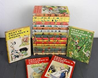 RARE Vintage Childrens Books 1950s Best in Children's Book - Set of 21 Book Lot - Vintage Kids Books Literature Reading Middle School