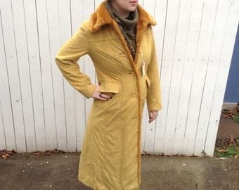 Fur Trim Duster, Trench Coat, Overcoat