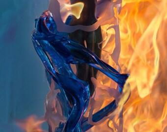 Beauty in Blue Fire & Ice