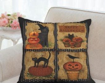 Country Halloween Pillow