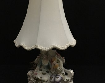 Antique/Vintage Porcelain Figural Lamp Base of Courting Couple - Made in Germany   (LDT6)