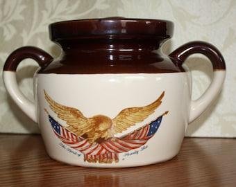 "Vintage McCoy Bicentennial ""Spirit of Seventy-Six"" Bean Pot or Cookie Jar"