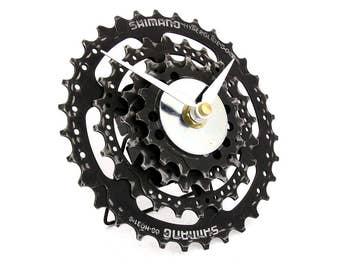 Shimano Bicycle Gear Desk Clock - Bike Clock - Bicycle Clock - Eco Friendly Design - Steampunk Clock - Bike Gear Clock - Cycling Gift
