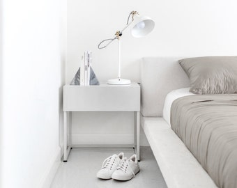Modern nightstand bedside table with drawer - soft close Loft night stand table bedside drawer End tables contemporary storage bedside #pcd2