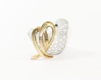 CORO Golden Ribbon Brooch Pin