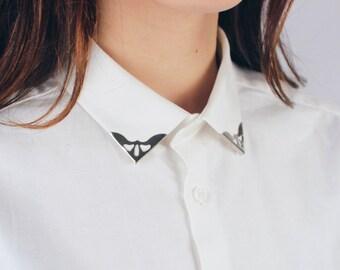 Pin's Bay Leaf gold / collar tips DIY / Malicieuse shop