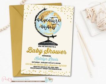 adventure awaits baby shower | etsy, Baby shower invitations