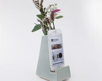 STAK Bloom Phone Vase, Earl Grey