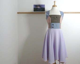 Size M/L - Swing Dress in Lilac Summer