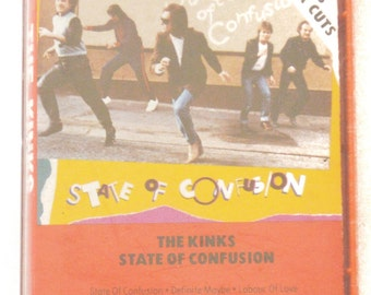 Vintage 80s The Kinks State of Confusion Album Cassette Tape